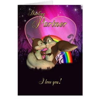 Cartão do dia dos namorados do sócio com amor
