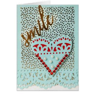 Cartão do dia dos namorados do sorriso