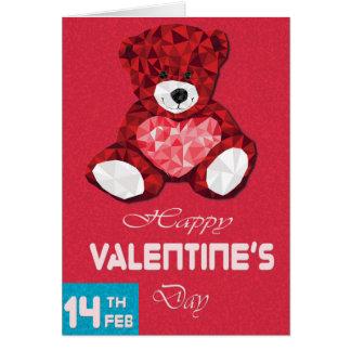 Cartão do dia dos namorados do urso de ursinho do