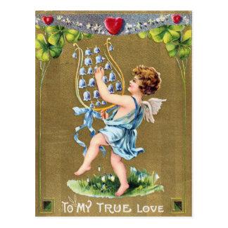 Cartão do dia dos namorados do Victorian dos