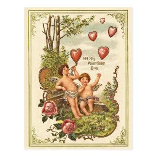 Cartão do dia dos namorados do vintage