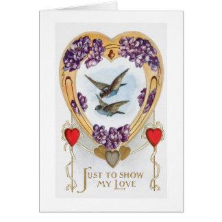 Cartão do dia dos namorados dos Bluebirds dos