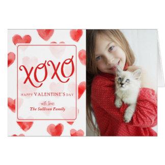 Cartão do dia dos namorados dos corações da