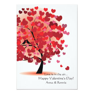 Cartão do dia dos namorados dos Lovebirds Convite 12.7 X 17.78cm