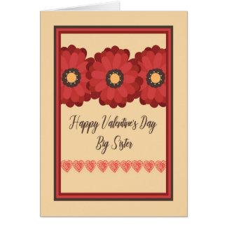 Cartão do dia dos namorados, irmã mais velha com