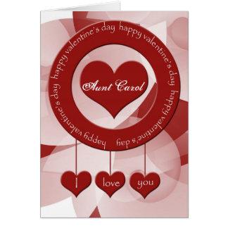 Cartão do dia dos namorados para a tia especial