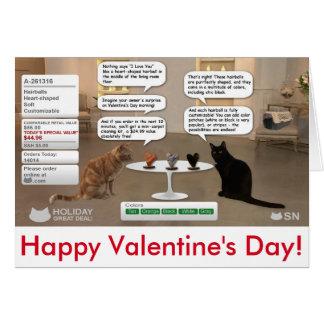 Cartão do dia dos namorados para amantes do gato