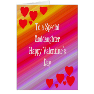 Cartão do dia dos namorados para o Goddaughter