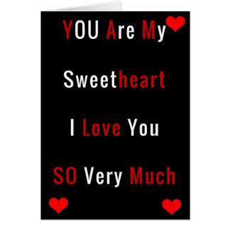 Cartão do dia dos namorados para o querido