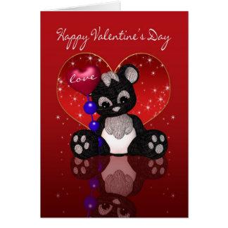 Cartão do dia dos namorados - urso de panda bonito