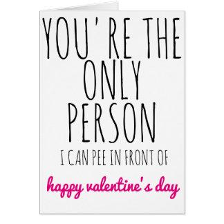 Cartão do dia dos namorados você é a única pessoa