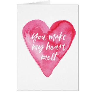 Cartão do dia dos namorados, você faz meu coração