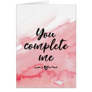 Cartão do dia dos namorados, você termina-me