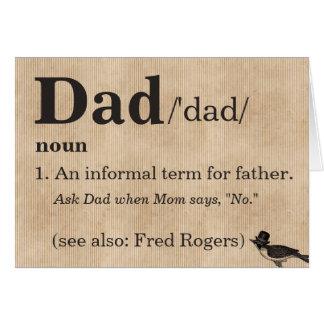 Cartão do dia dos pais, a definição do pai
