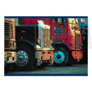 Cartão do dia dos pais (caminhões)