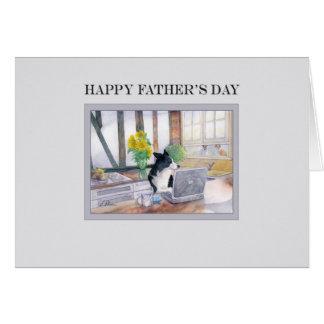 Cartão do dia dos pais - cão de border collie em