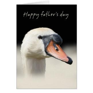 Cartão do dia dos pais - cisne muda
