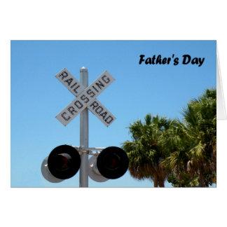 Cartão do dia dos pais com cruzamento de estrada