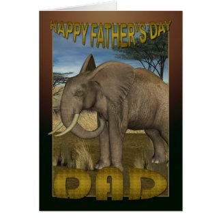 Cartão do dia dos pais com elefante