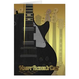 Cartão do dia dos pais com guitarra