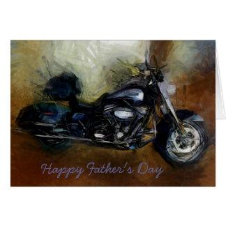 Cartão do dia dos pais com motocicleta de Harley
