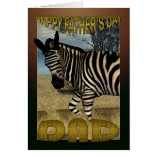 Cartão do dia dos pais com zebra