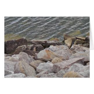 Cartão do dia dos pais da água e das rochas