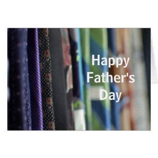 Cartão do dia dos pais da foto das gravatas