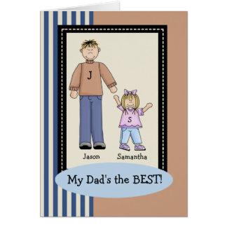 Cartão do dia dos pais da menina do pai
