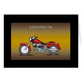 Cartão do dia dos pais da motocicleta