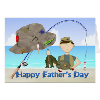 Cartão do dia dos pais da pesca