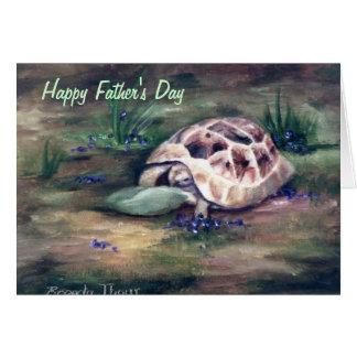 Cartão do dia dos pais da tartaruga do anjo
