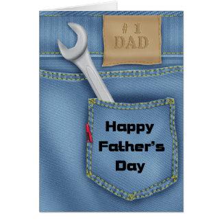 Cartão do dia dos pais das ferramentas