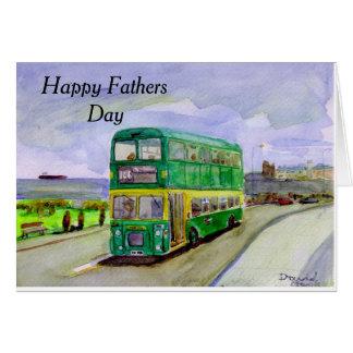 Cartão do dia dos pais de Bristol VRT do trânsito