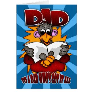 Cartão do dia dos pais - desenhos animados engraça