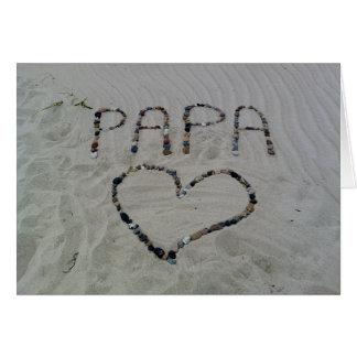 Cartão do dia dos pais do amor da praia