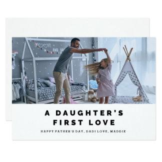 Cartão do dia dos pais do amor de uma filha
