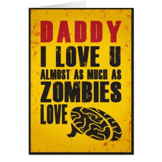 Cartão do dia dos pais do amor do zombi