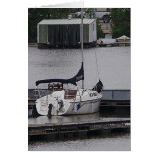 Cartão do dia dos pais do barco