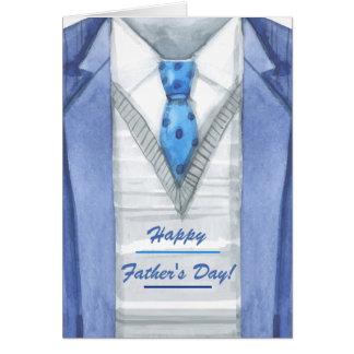 Cartão do dia dos pais do casaco azul
