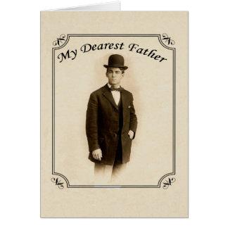 Cartão do dia dos pais do cavalheiro do vintage