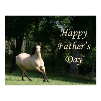 Cartão do dia dos pais do cavalo do Buckskin