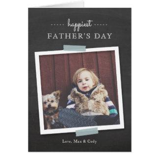 Cartão Cartão do dia dos pais do elogio do quadro
