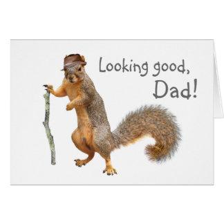 Cartão do dia dos pais do esquilo