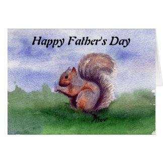 Cartão do dia dos pais do estudo do esquilo