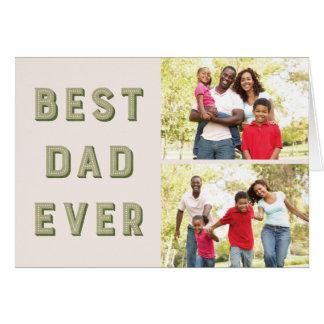 Cartão do dia dos pais do famoso 2-Photo - musgo