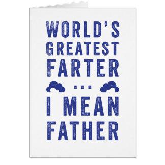 Cartão do dia dos pais do Farter do mundo o grande