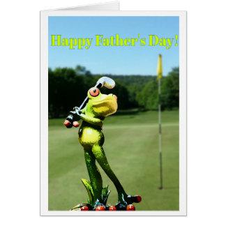 Cartão do dia dos pais do golfe