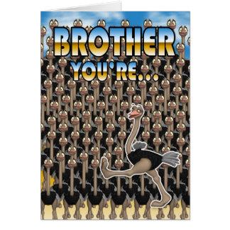 Cartão do dia dos pais do irmão - você é um em um