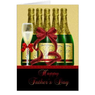 Cartão do dia dos pais do pai - Champagne